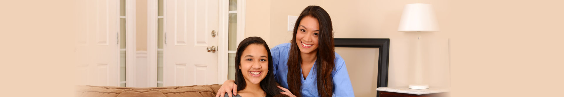caregiver and teenager